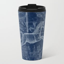 Unicorn stars sky map Travel Mug