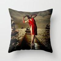 siren Throw Pillows featuring Siren by Galen Valle