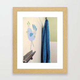 Blue Bath Framed Art Print