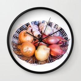 onion, shallot, garlic Wall Clock