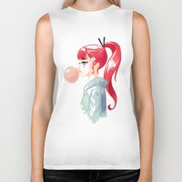 bubblegum Biker Tanks featuring Bubblegum by Freeminds