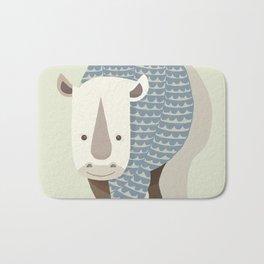 Whimsical Rhinoceros Bath Mat