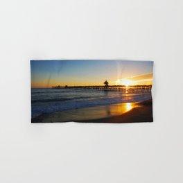 San Clemente Ca pier sunset Hand & Bath Towel