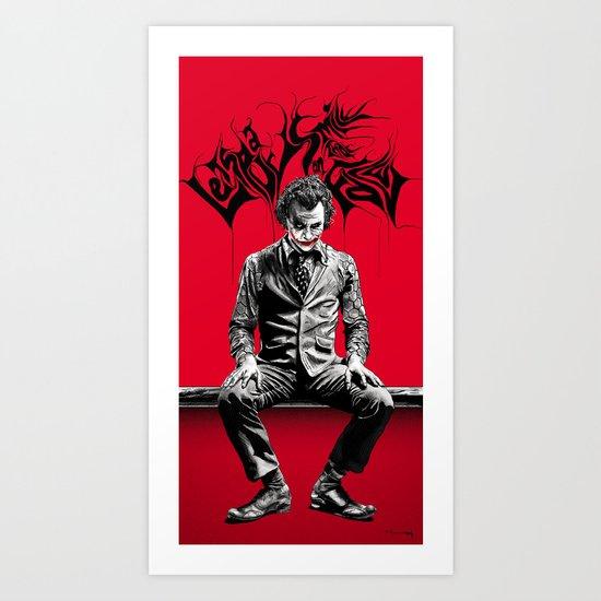 JOKER poster Art Print