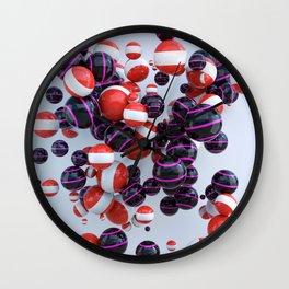 Orange & Purple black Wall Clock