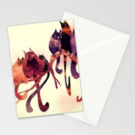 Cat-Birds on a Wire Stationery Cards