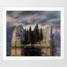 Die Toteninsel Art Print