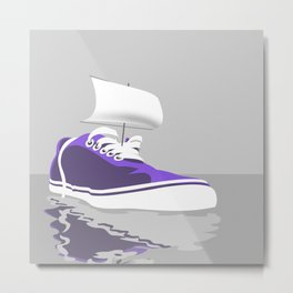 mary celeste shoe Metal Print