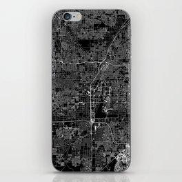 Las Vegas Black Map iPhone Skin