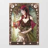 art nouveau Canvas Prints featuring Nouveau by CreativeByDesign