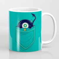 pocket Mugs featuring Pocket Monster by Steven Toang