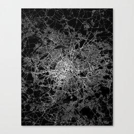 Paris map #2 Canvas Print