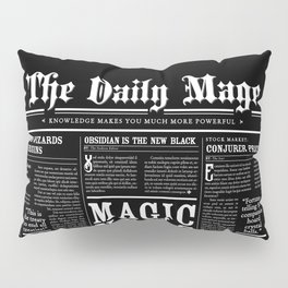 The Daily Mage Fantasy Newspaper II Pillow Sham
