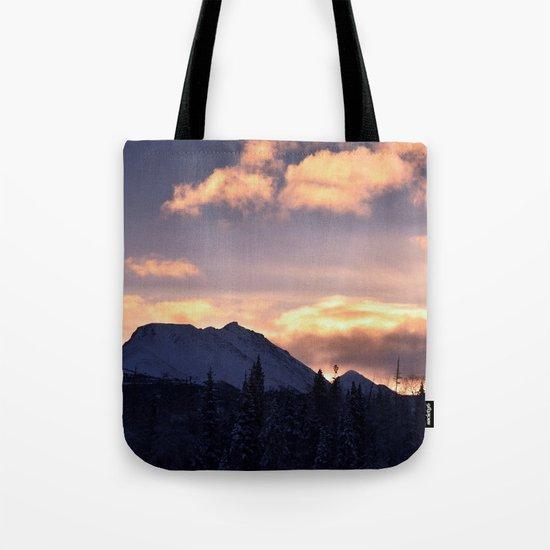 Flat Top Sunrise Serenity Rose Tote Bag