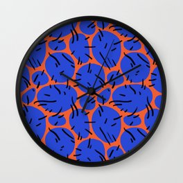 Blue Nori Wall Clock