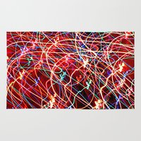 the lights Area & Throw Rugs featuring Lights by Serena Gailey