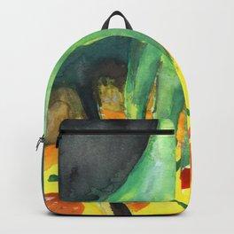 alien eating pizza Backpack
