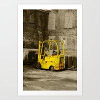 Forklift Art Print