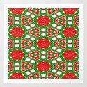 Red, Green and White Kaleidoscope 3372 by celestesheffey