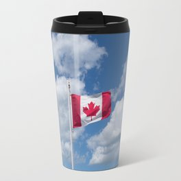 Maple Leaf Flag Flying High Travel Mug