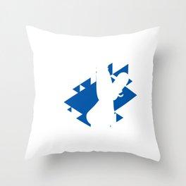 Snowboard Silhouette Snowboarder Winter Sport Gift Throw Pillow