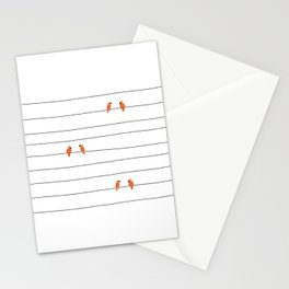 Birds in line Stationery Cards