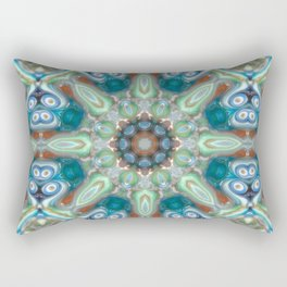 Colorful Glass Ornament Rectangular Pillow