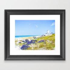 Purple Sprinkles Framed Art Print
