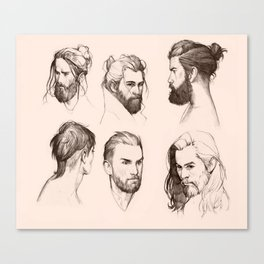 Bearded faces Canvas Print