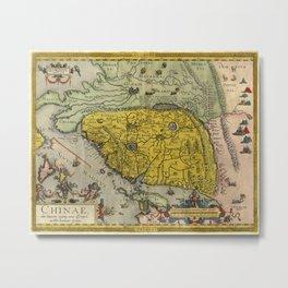 Map of China - Ortelius - 1584 Metal Print