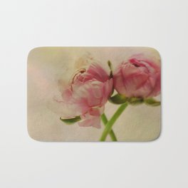 Falling in Love with rose flowers Bath Mat