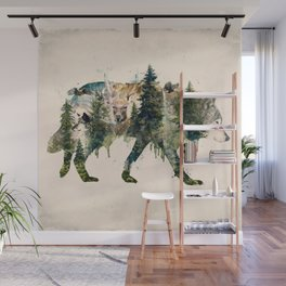 Wolf is the Pride of Nature Wall Mural