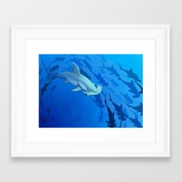 Shark week _The Hammer Framed Art Print