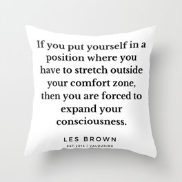 23       Les Brown  Quotes   190824 Throw Pillow