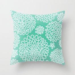 Peppermint Dandelions Throw Pillow