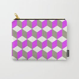 Diamond Repeating Pattern In Ultra Violet Purple and Grey Carry-All Pouch