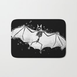 Skeletal Bat - inverted Bath Mat
