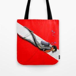 Diver And Dive Flag Tote Bag