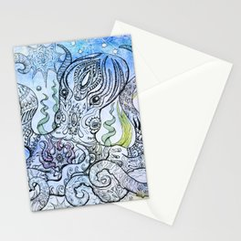 Starry Octopus Stationery Cards