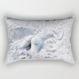 Life's A Beach by Sharon Cummings Rectangular Pillow