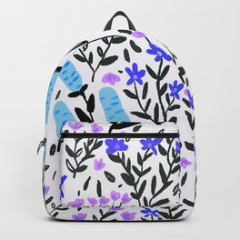 wild flowers hand draw floral pattern Backpack