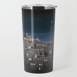 Bethlehem Night Nativity Scene Travel Mug