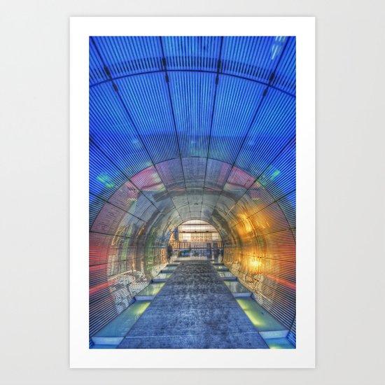Blue tunnel.  Art Print