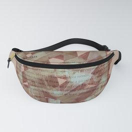 brush type brown Fanny Pack