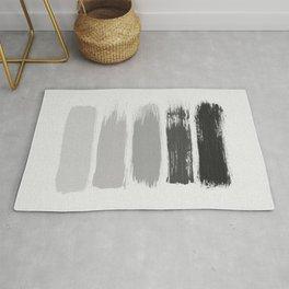Black & White Stripes Rug
