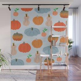 Pumpkin patch delight Wall Mural