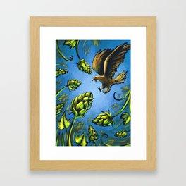 Screaming Eagle and Raging Hops (Cool) Framed Art Print