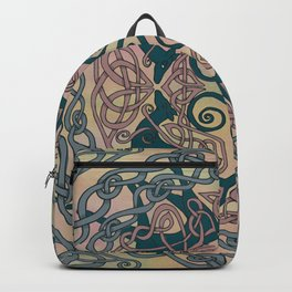 Art Nouveau Greyhound Celtic Knotwork Backpack