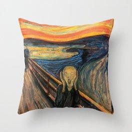 "Edvard Munch, "" The Scream "" Throw Pillow"