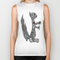 greg guillemin Biker Tanks featuring Squirrel by Greg Phillips by SquirrelSix
